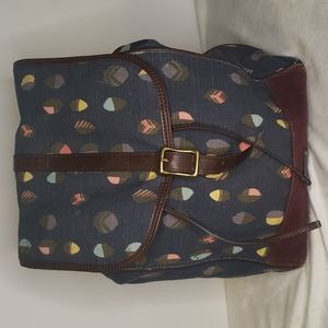 Fossil Navy Leaves Backpack